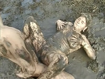 Big chubby slut falls into mud