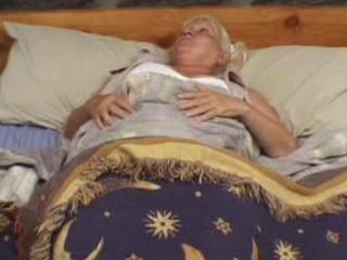 Old fat slut woken up by cock