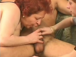 Fat redhead duo fucking worker