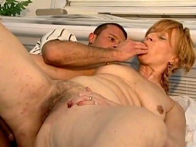 Fat tanned redhead slut fucks