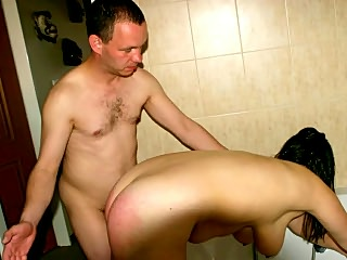 Spanking ass of cheating wife